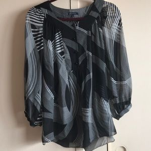 Anne Klein Large Sheer Blouse